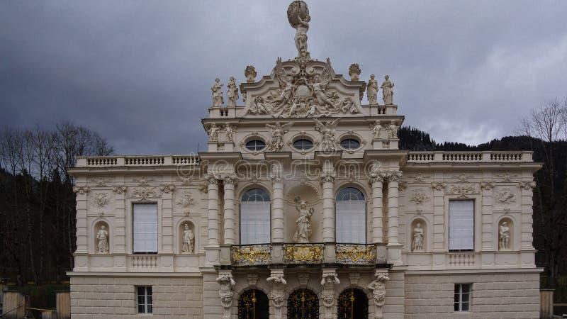 Fasada rokokowy pałac linderhof obrazy stock