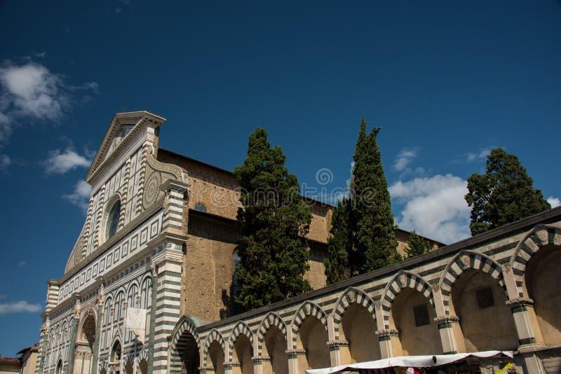 Fasada sławny punkt zwrotny w Florencja, Santa Maria nowele kościół, Florencja, Włochy fotografia royalty free