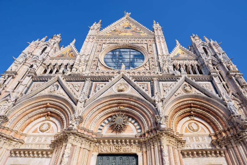 Fasada Siena kopuły Duomo di Siena, Włochy obraz royalty free