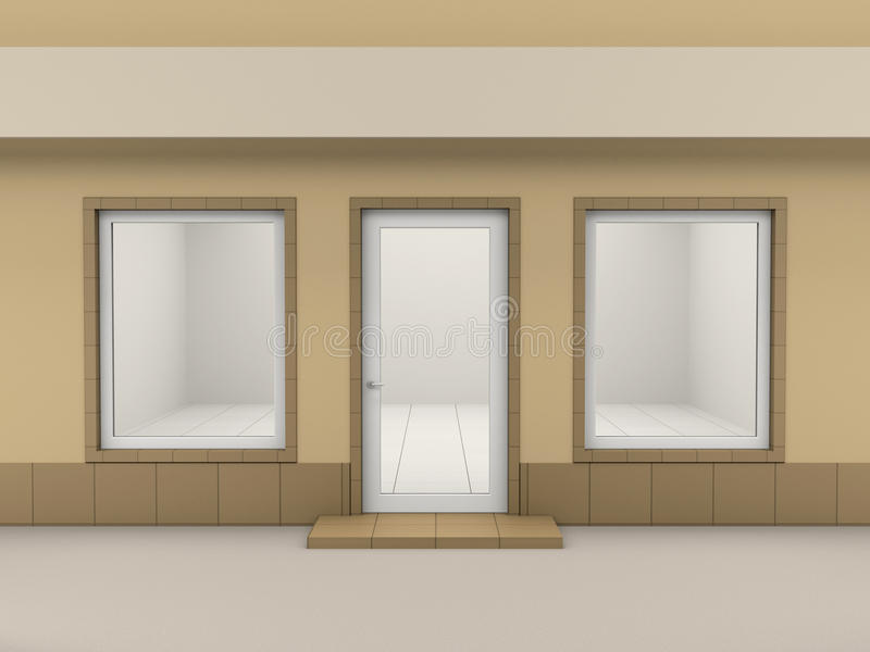 fasada sklep ilustracji