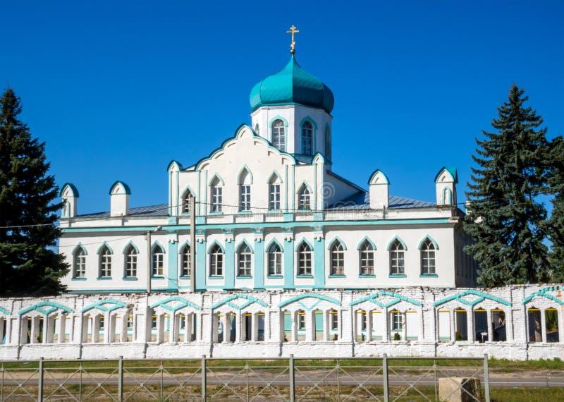 Fasada St John ewangelisty kościół wioski Kon-Kolodez Lipetsk region zdjęcie royalty free