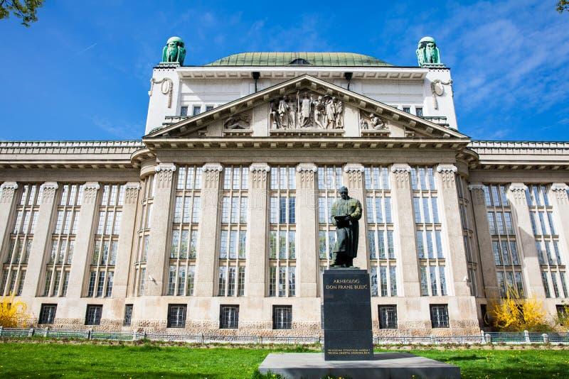 Fasada stanów archiwa buduje w Zagreb obraz royalty free