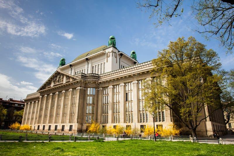 Fasada stan?w archiwa buduje w Zagreb zdjęcia stock