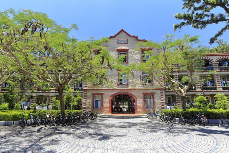 Fasada studencki dormitorium w Xiamen uniwersytecie, adobe rgb obraz stock