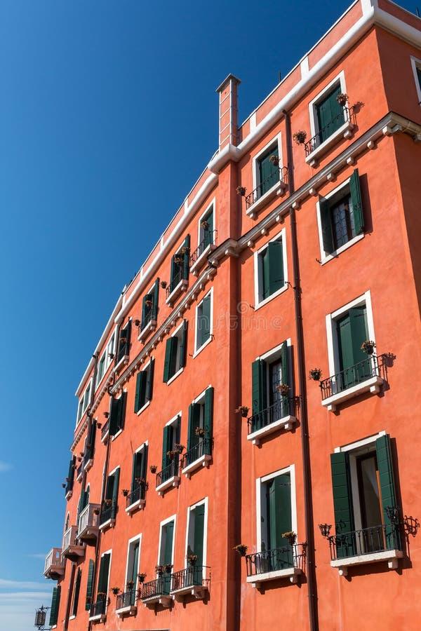 Fasada szlachetny dom w Wenecja, Włochy obraz royalty free