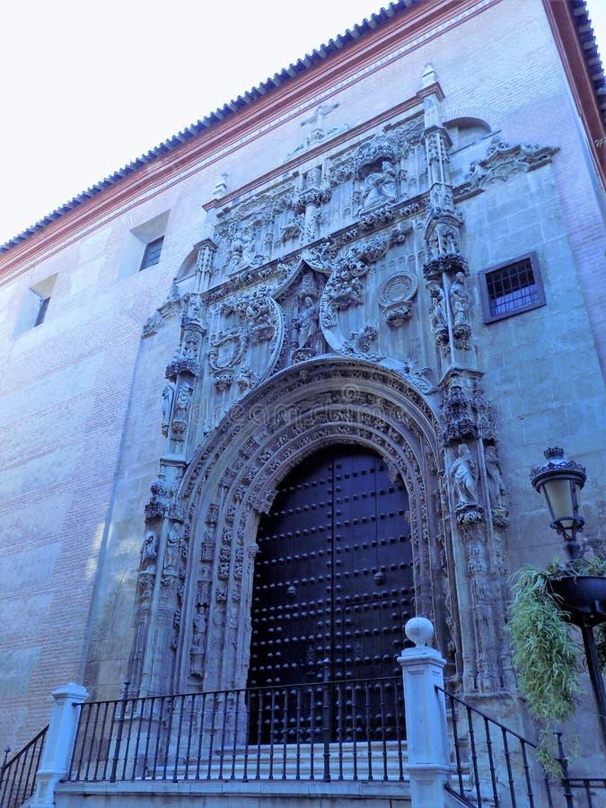 Fasada tabernacle Malaga zdjęcia royalty free