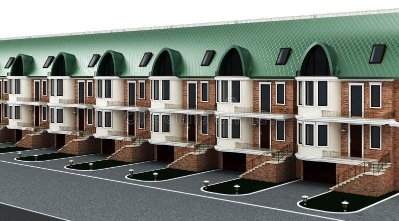 Fasada tarasujący domy ilustracji