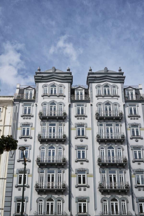 Fasada typowy Portugalski budynek w Lisbon Portugalia zdjęcie stock