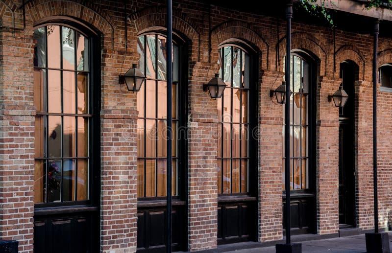 Fasada w dzielnicie francuskiej - Nowy Orlean obrazy royalty free