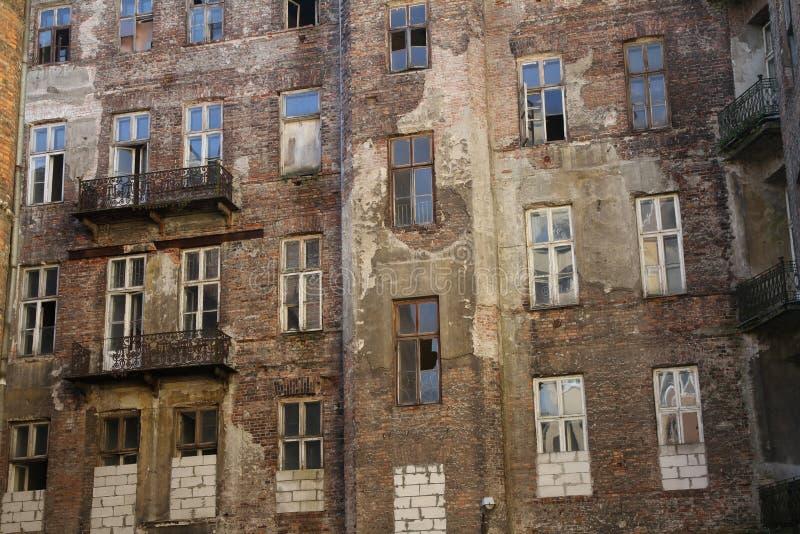 Fasada Warszawski getto, Warszawa, Polska zdjęcia stock