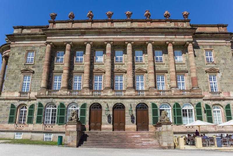 Fasada Wilhelmshohe kasztel w Kassel zdjęcie stock