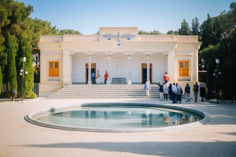 Fasada Yazd Atash Behram Zoroastrian wysoki stopień pożarnicza świątynia obrazy stock