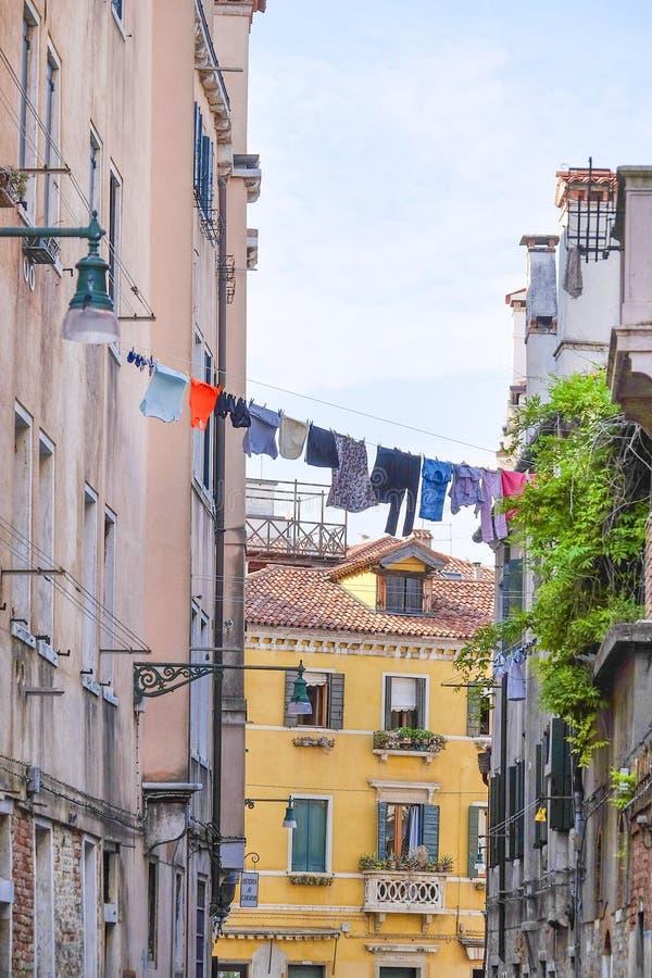 Fasada zamieszkany dom w Wenecja obraz royalty free