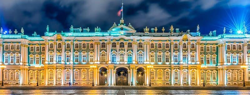 Fasada zima pałac, eremu muzeum, St Petersburg, R zdjęcie royalty free