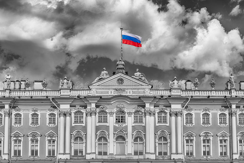 Fasada zima pałac, eremu muzeum, St Petersburg, R obraz stock