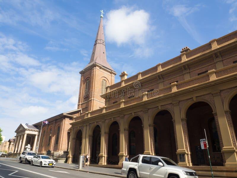 Fasadbyggnaden av högsta domstolen av New South Wales har övervakande jurisdiktion över andra NSW-domstolar och domstolar royaltyfri bild