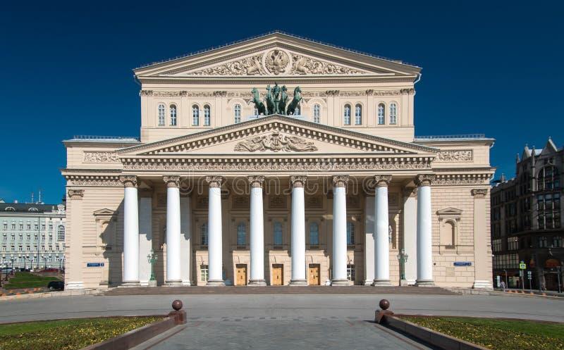 Fasade av den Bolshoi teatern arkivbilder