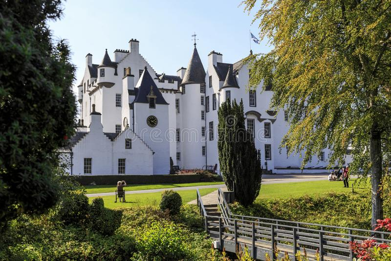 Fasade Blair Schloss stockfotos