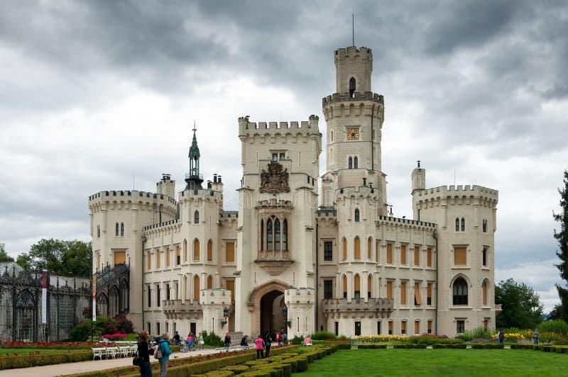 Fasade del castillo en Hluboka nad Vltavou, República Checa imagenes de archivo