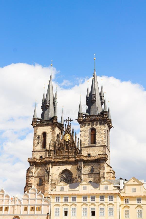 Fasadowa Tyn katedra zdjęcie royalty free