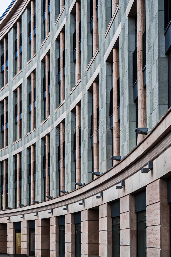 Fasadowi rozwiązania nowi budynki mieszkalni zdjęcie royalty free