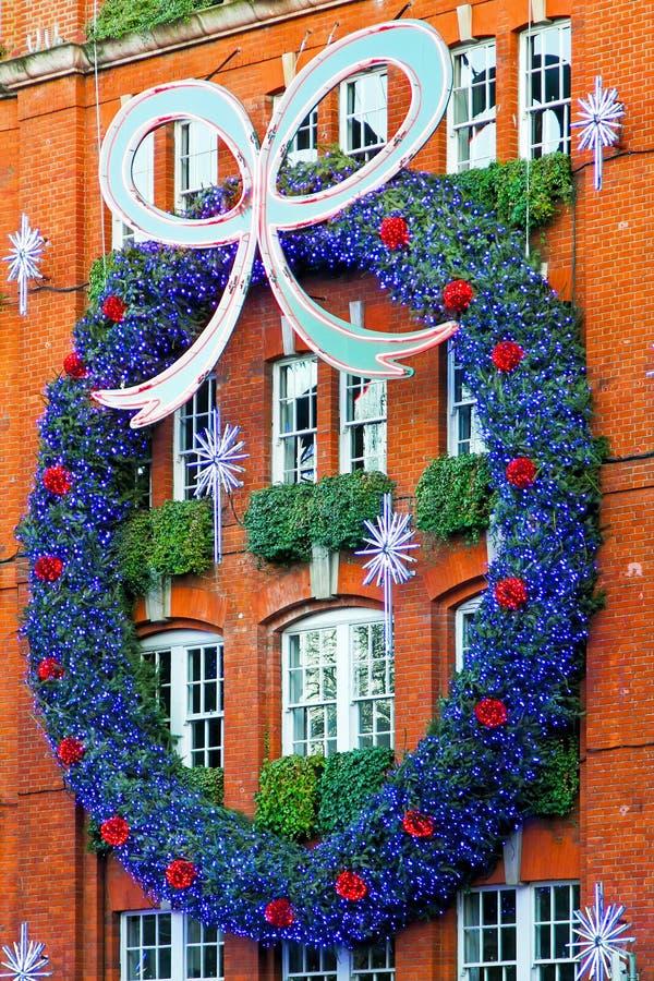 fasadowy Boże Narodzenie wianek zdjęcie royalty free