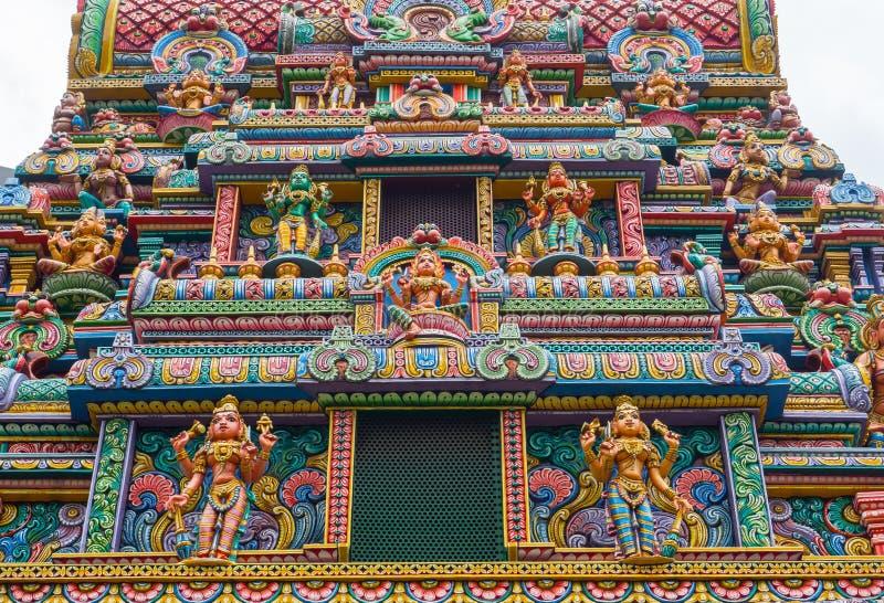 Fasadowy budynek Święta świątynia z statuą Hinduski bóg w centrali Bangkok, jest miejscem dla uwielbiać zdjęcie stock