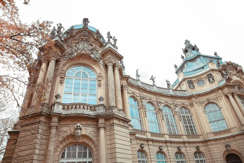 Fasadowy budynek Vajdahunyad kasztel Budapest, Węgry obraz stock
