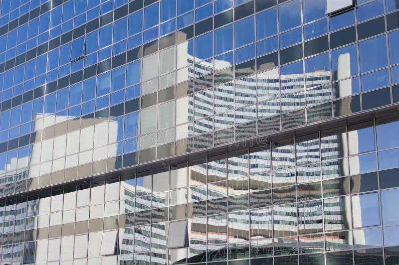fasadowy lustro Vienna szklany zdjęcia stock