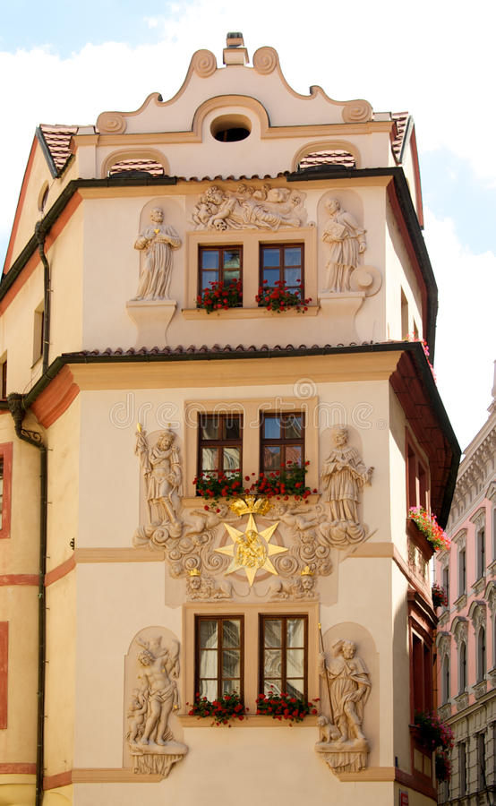 fasadowy Prague zdjęcia stock