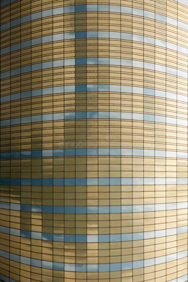 fasadowy szklany kolor żółty zdjęcie royalty free