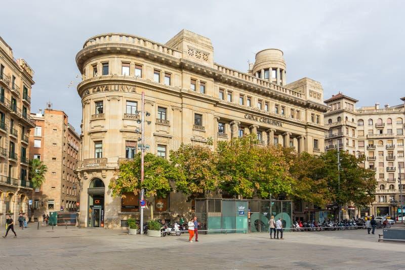 Fasady eleganccy, dziejowi tenement domy przy nowa, Obciosują, Barcelona, Hiszpania zdjęcie royalty free