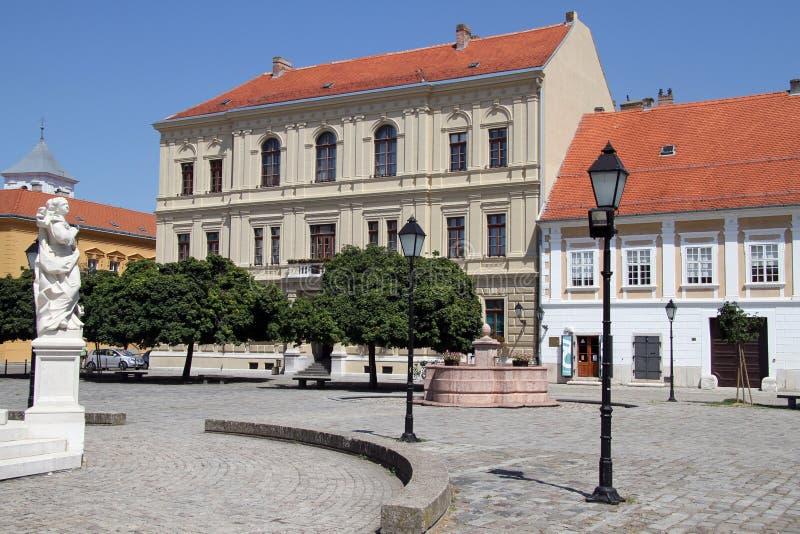 Fasady w Osijek obrazy royalty free