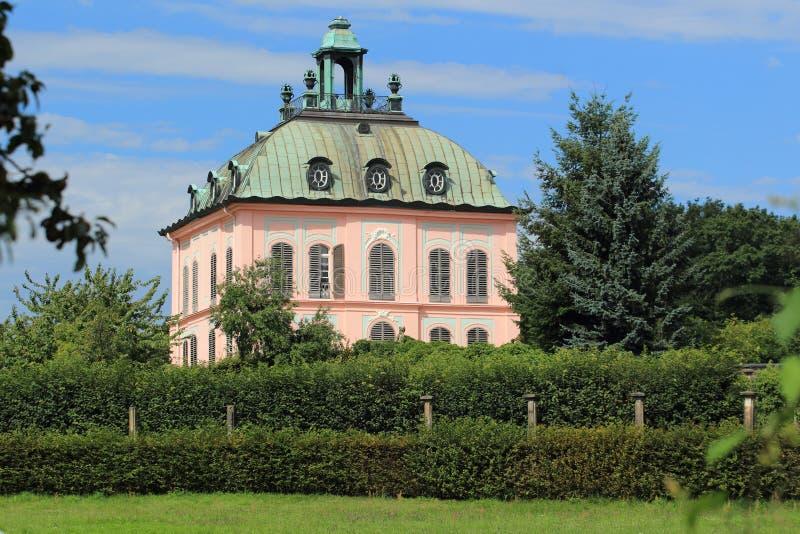 Fasanchateau i Moritzburg arkivfoton