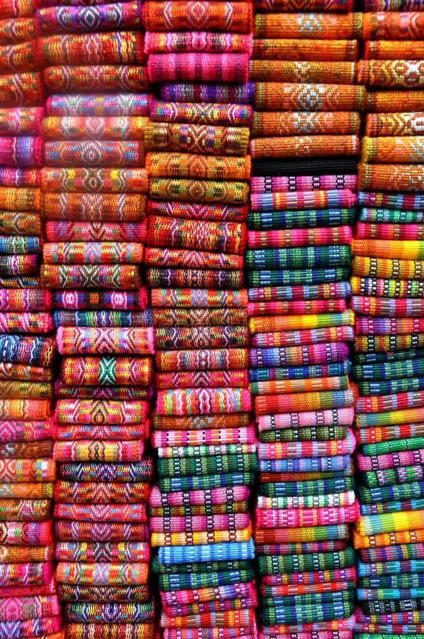 Fasce del tessuto del Ecuadorian immagini stock