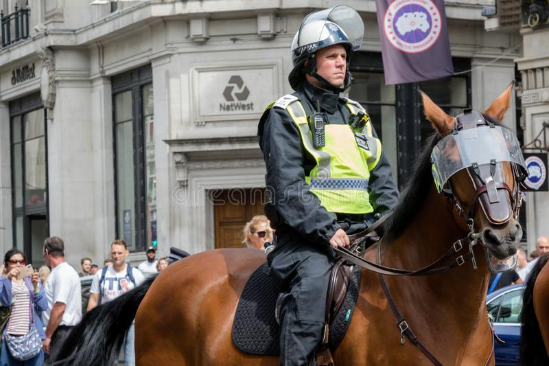 Faschistische Antiproteste in London lizenzfreie stockfotografie