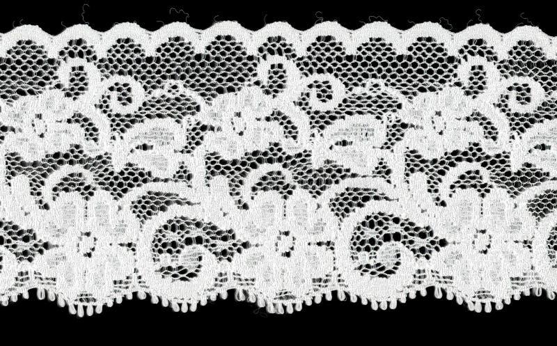 Fascia bianca nuziale del merletto fotografia stock libera da diritti