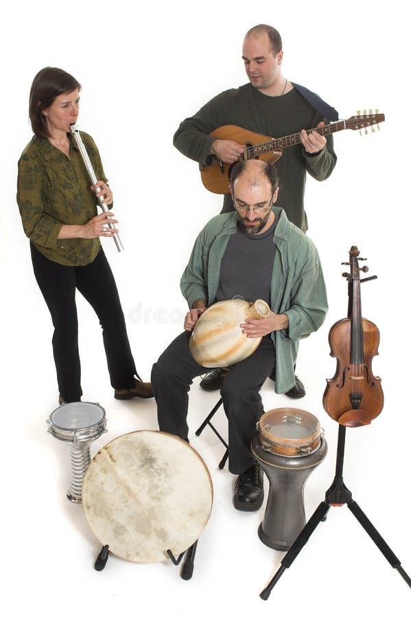 Fascia che gioca musica celtica fotografia stock libera da diritti
