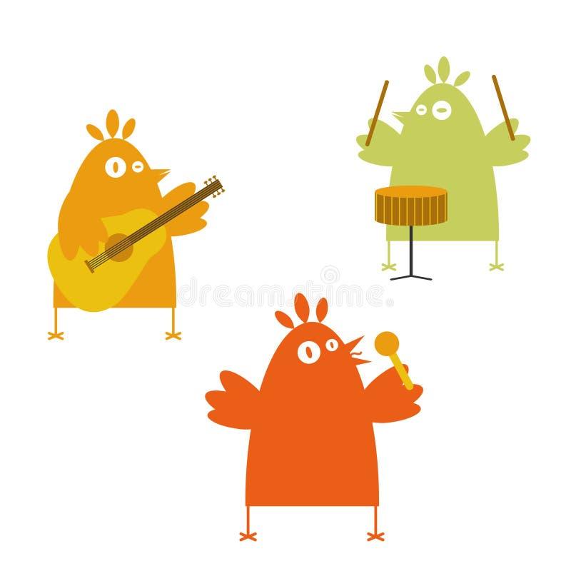 Fascia degli uccelli illustrazione di stock