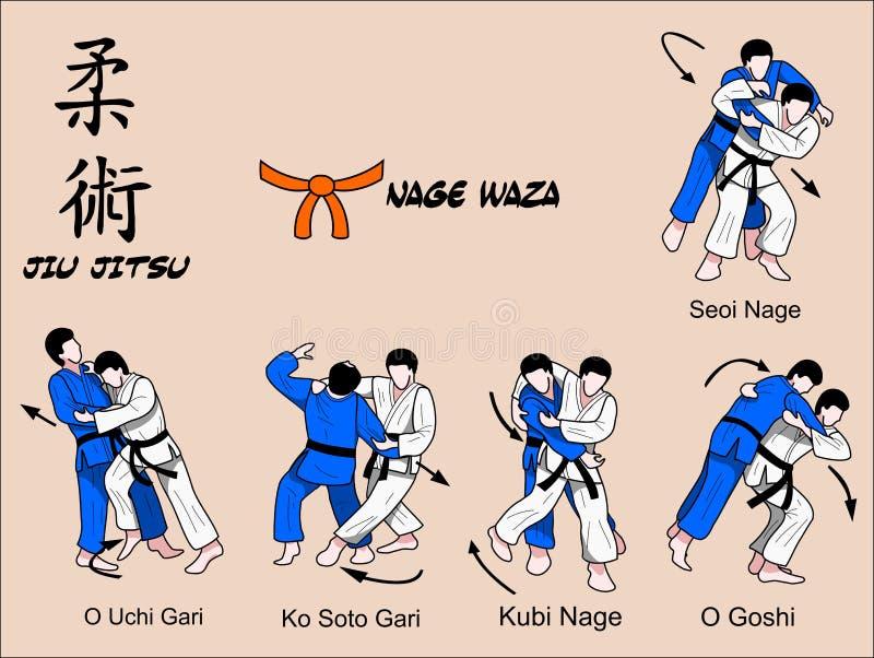 Fascia dell'arancio di Jiu Jitsu illustrazione vettoriale