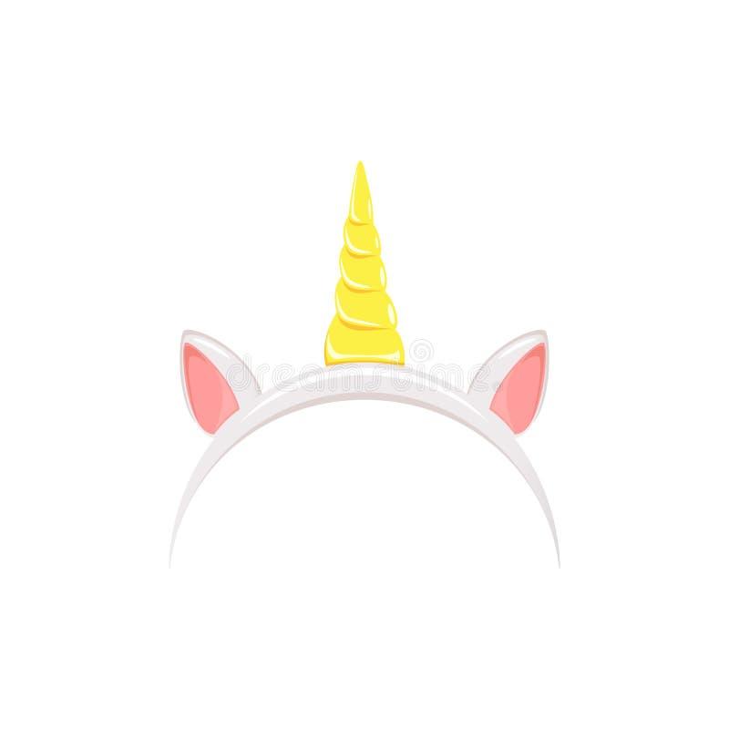 Fascia dell'unicorno su fondo bianco royalty illustrazione gratis