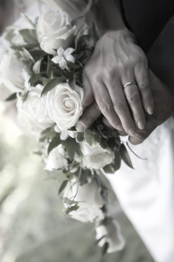Fascia di cerimonia nuziale fotografie stock libere da diritti