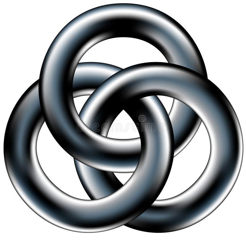 Fascia di cerimonia nuziale celtica o sumbol corporativo di unità illustrazione vettoriale