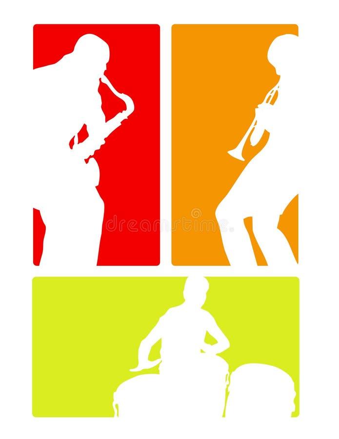 Fascia di jazz latina illustrazione di stock
