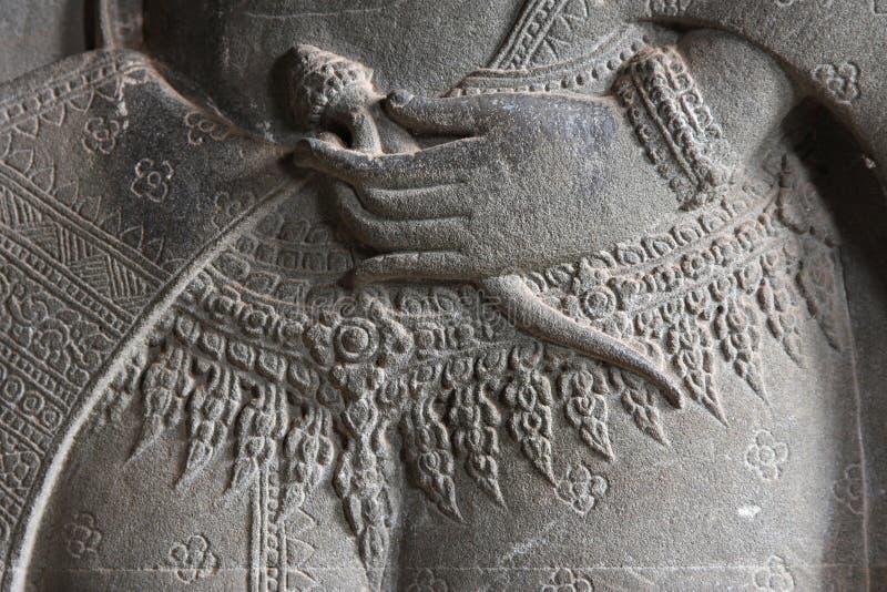 Fascia di un ballerino celeste in Angkor Wat immagine stock