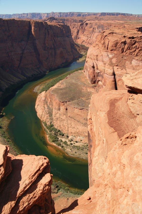 Fascia a ferro di cavallo, fiume di colorado di meandro, Arizona fotografie stock libere da diritti