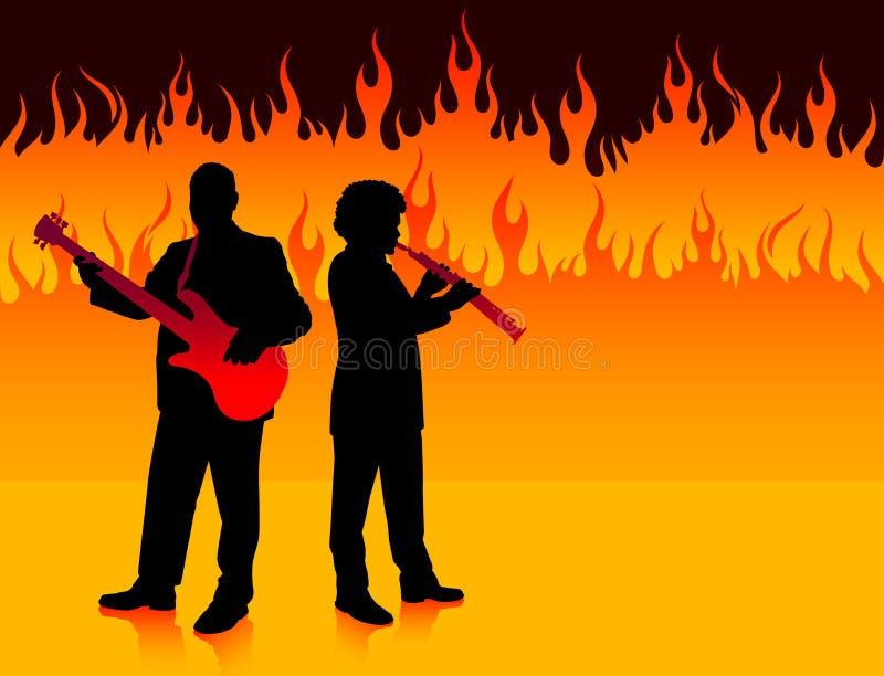 Fascia musicale nell'inferno illustrazione vettoriale