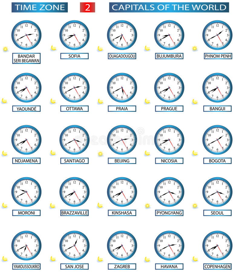 Fascia oraria - 2 royalty illustrazione gratis
