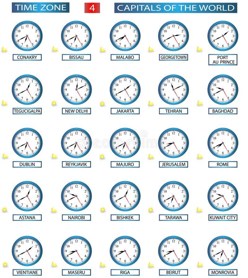 Fascia oraria - 4 illustrazione di stock