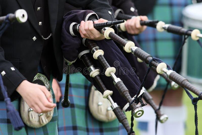 Fascia scozzese del tubo dell'altopiano fotografia stock